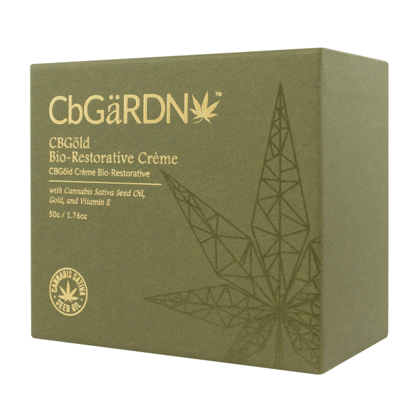 CBGöld Bio-Restorative Crème in its case