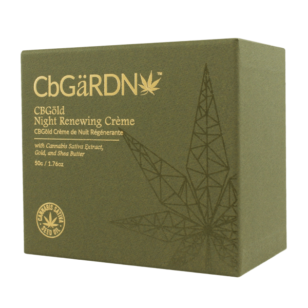 CBGöld Night Renewing Crème in its case
